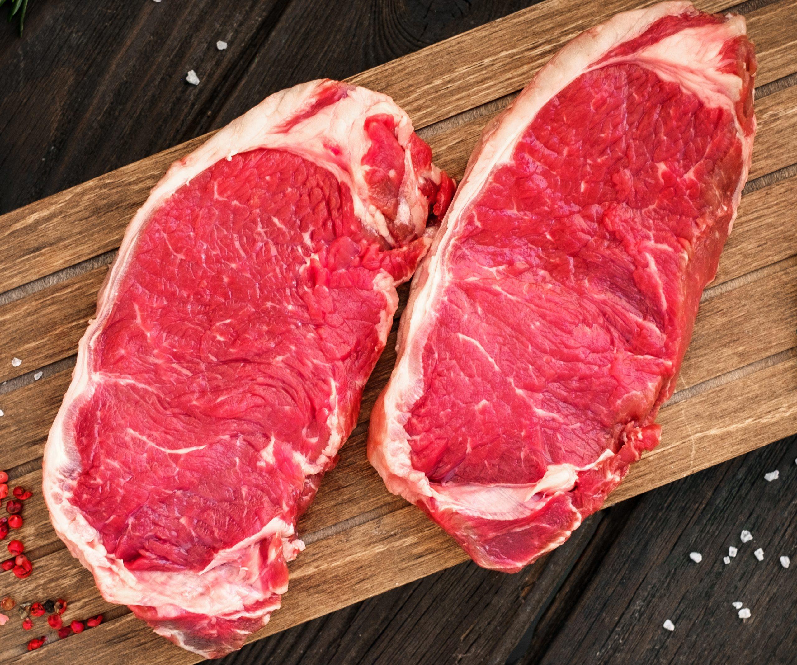 Top Sirloin steak raw